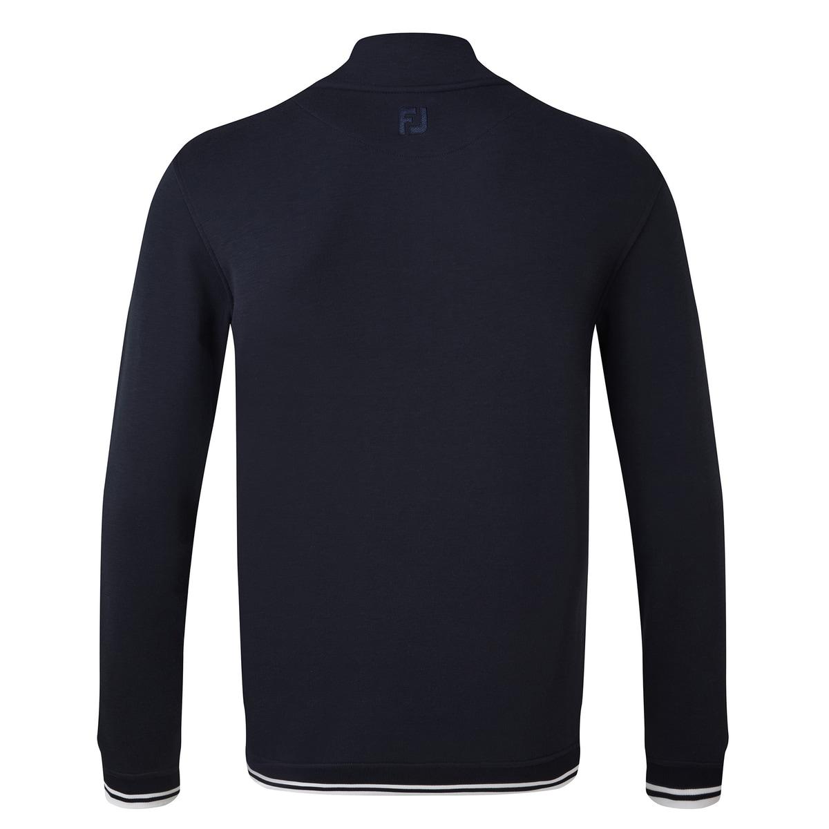 Couche intermédiaire en jersey molletonné avec col boutonné à l'arrière