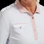 Polo piqué manche 3/4 boutonnière imprimé camouflage pour femme