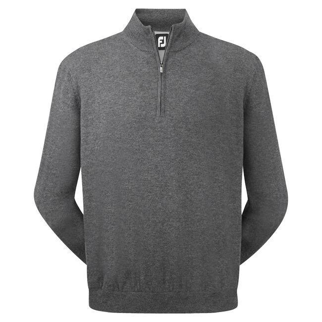 Lambswool Half Zip Lined Pullover-Modèle de l'année Précédente