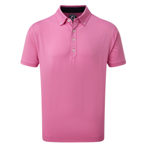 Lisle Solid with Contrast Trim and Button Down Collar