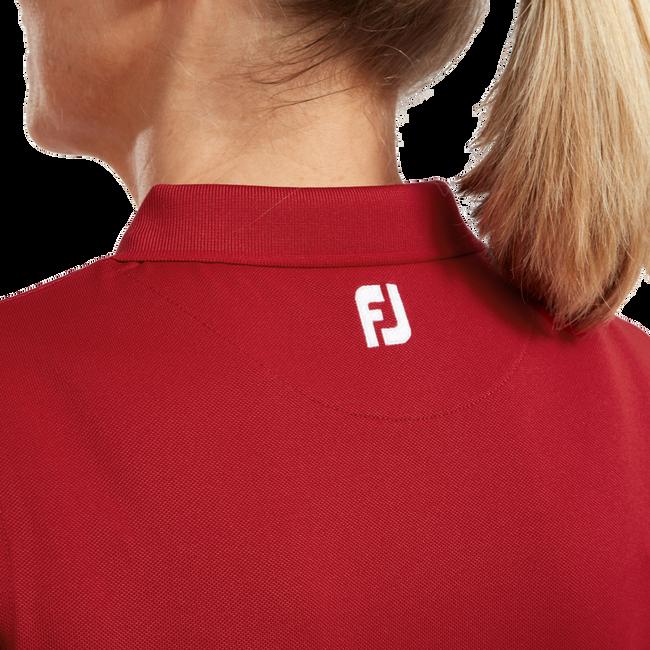Polo stretch piqué uni pour femme