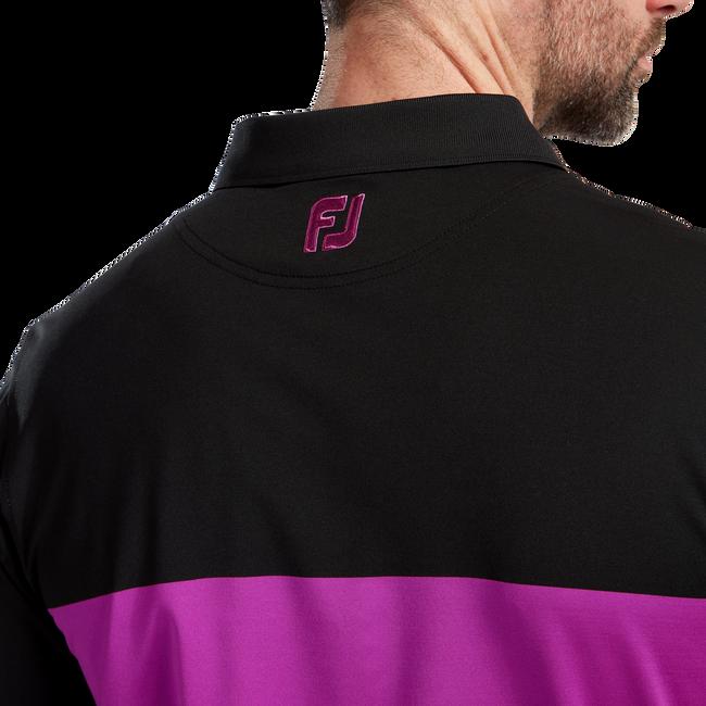 Polo technique en fil d'Ecosse blocs de couleur