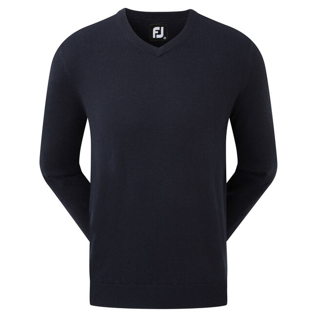 Pullover Col V Mélange de Laine