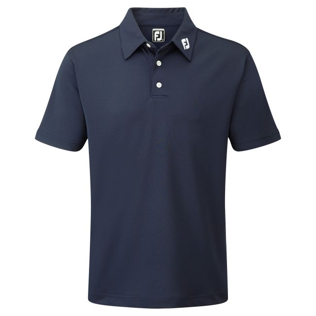 Polo Stretch Piqué uni avec logo FJ sur col