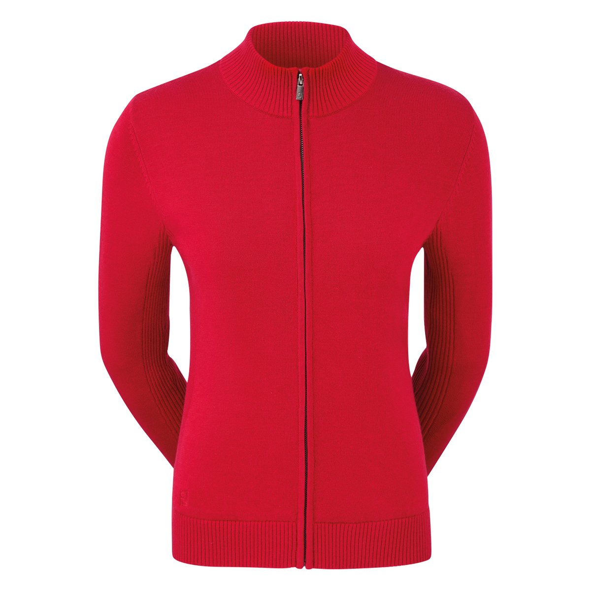Women's Full-Zip Lined Wool Blend Pullover