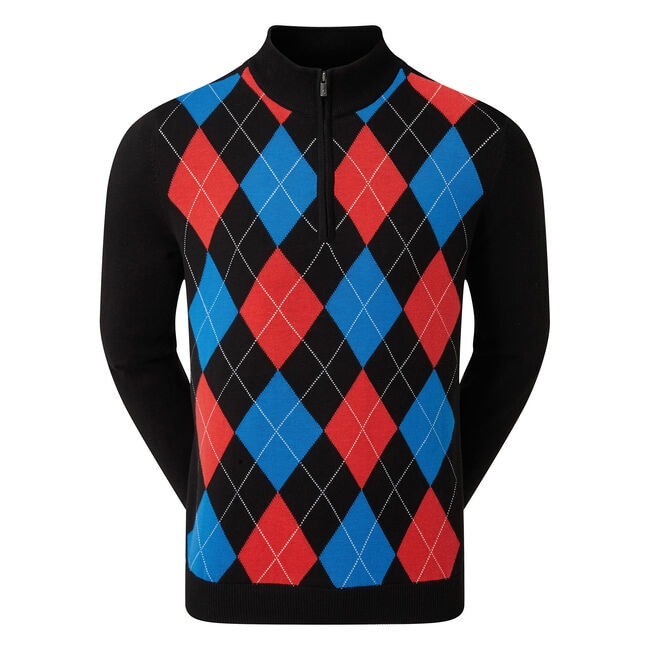 Pullover en laine 1/2 Zip