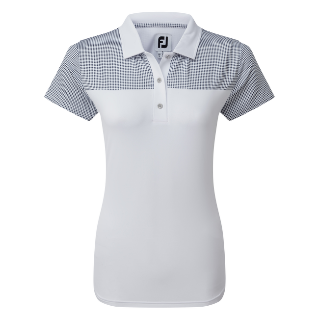 Women's Lisle Shirt with Dot Print Yoke