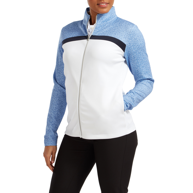 Women's Full-Zip Curved Colour Block Midlayer