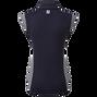 Women's Micro Interlock Princess Seam Shirt with Half Cap Sleeve