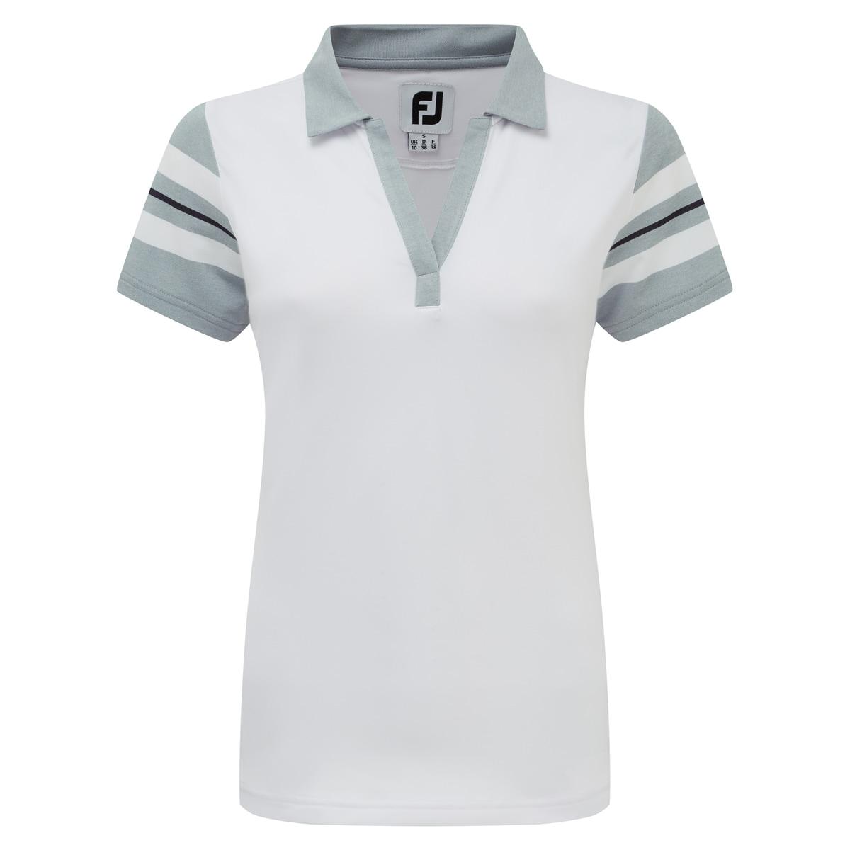 Baby Pique Sleeve Stripe Shirts Women