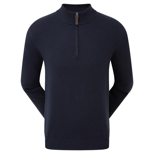 Pullover Zippé Mélange de Laine