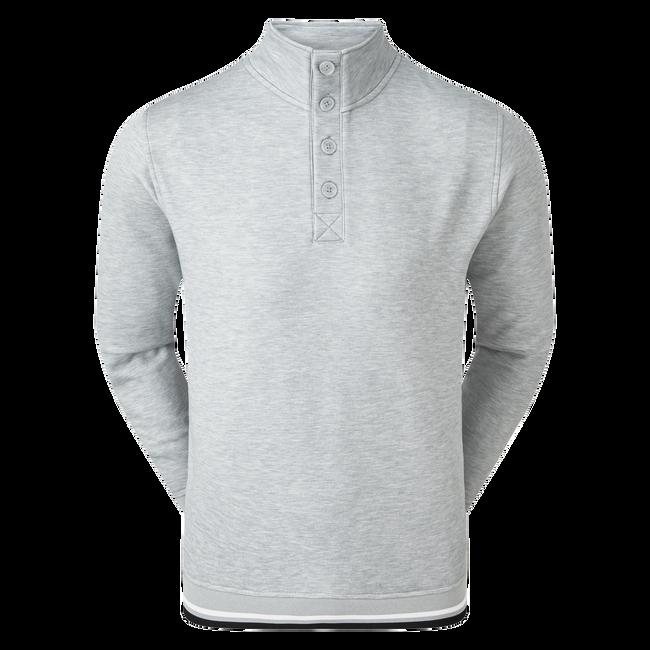 Couche intermédiaire en jersey molletonné avec col boutonné