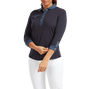 Women's 3/4 Sleeve Pique with Printed Trim
