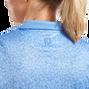 Polo imprimé camouflage floral à mancheron pour femme