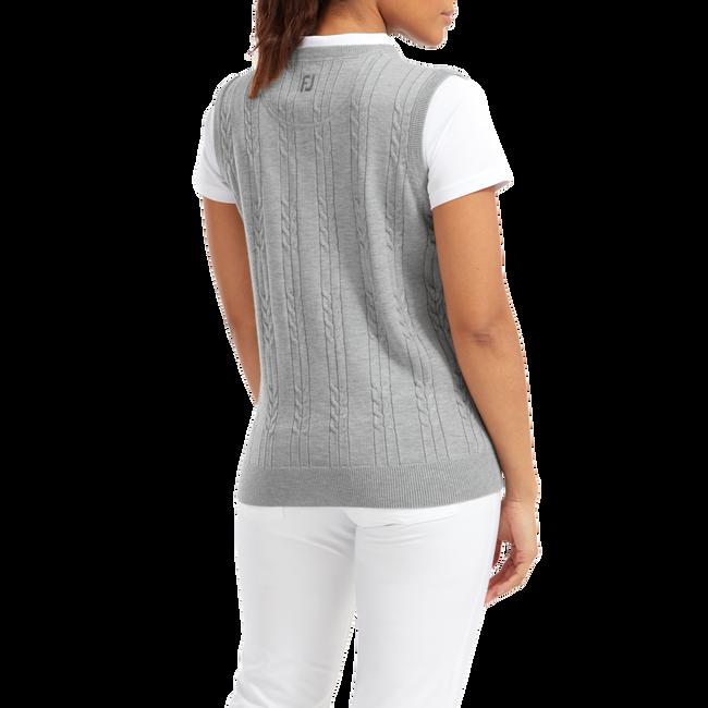 Pullover tricot col V sans manche pour femme