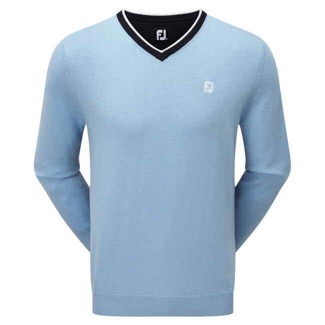 Wool Blend V-Neck Pullover-Modèle de l'année Précédente
