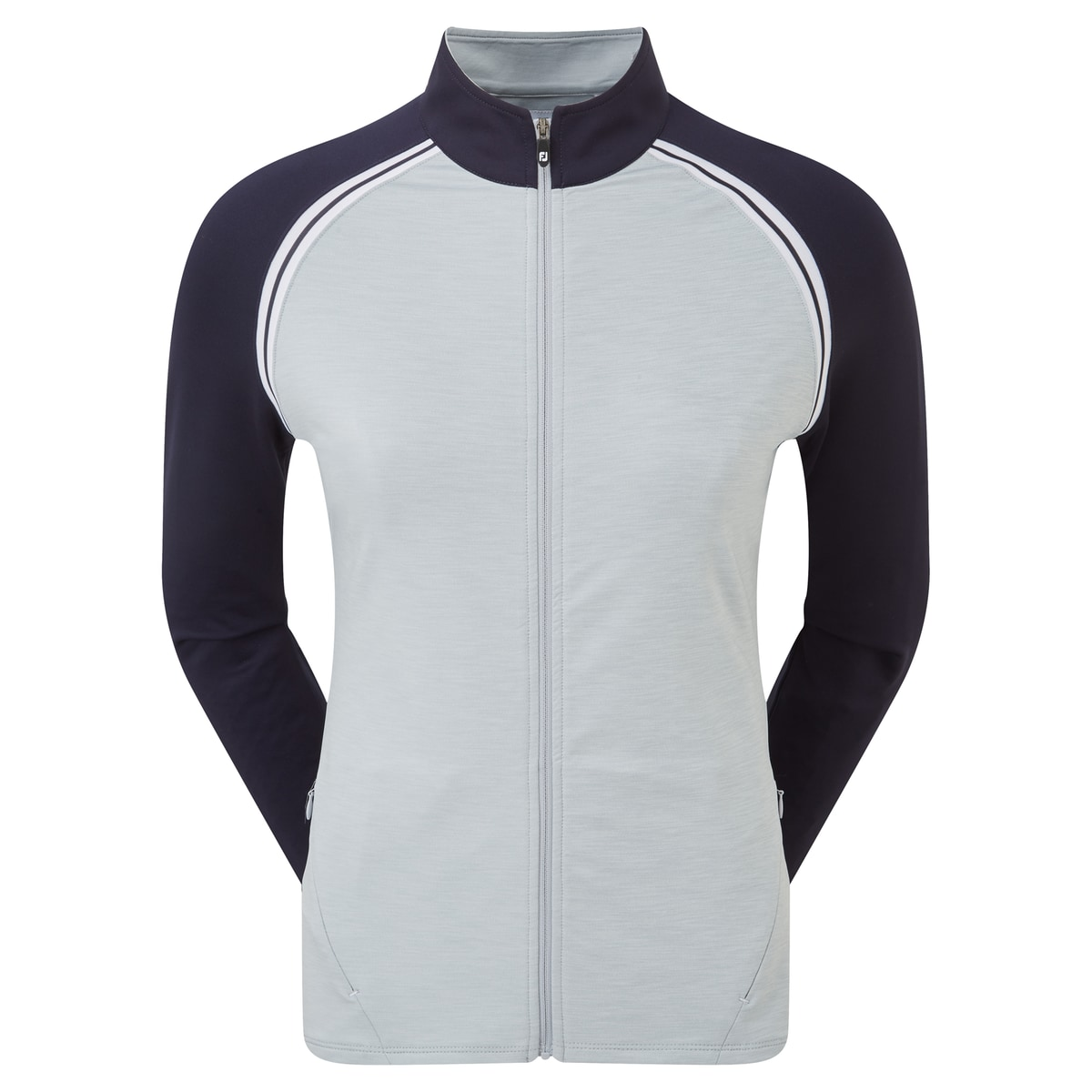 French Terry Full Zip Colour Block Dam