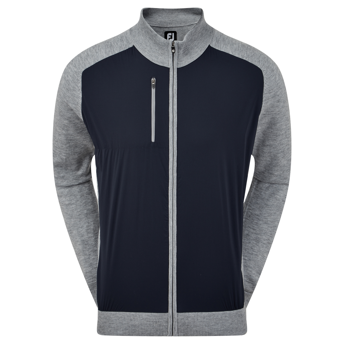 Sweat en Laine Technique Full-Zip