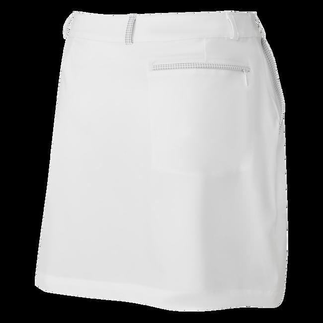 Women's Lightweight Woven Skort with Printed Trim