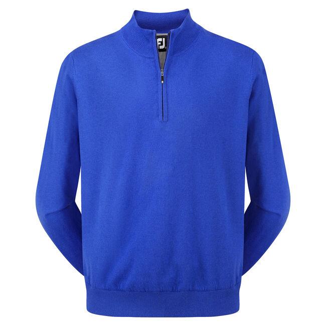 Lambswool Half Zip Pullover-Modèle de l'année Précédente